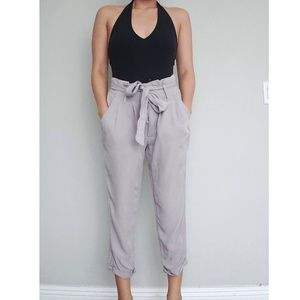 NWOT Belted Paperbag Waist Trousers